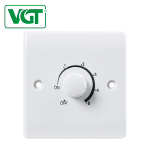 VGT High quality high security 250V CE Easy installation fan speed wall control switch