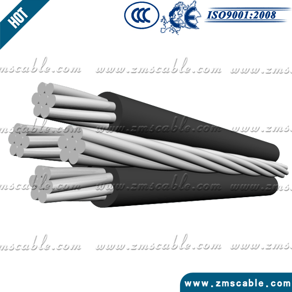 china supplier Best Price XLPE insulation aluminum wire aaac conductor 4x16 ABC cable