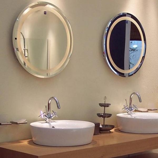 Hotel Bathroom T5 Round Led Backlit Mirror Product On Alibaba