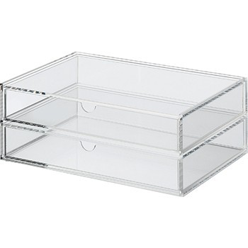 Three desktop drawer acrylic storage,clear acrylic makeup drawer/organizer