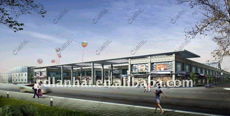 Commercial Street Steel Building Architecture Design Houses