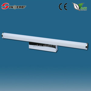 IP44 SFD508M replace fluorescent light in kitchen aluminum Nickel plated 8W LED T5 mirror bathroom light