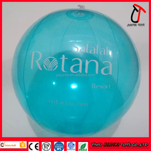 non phthalate blue clear pvc inflatable beach ball/giant inflatable clear ball/inflatable clear plastic ball