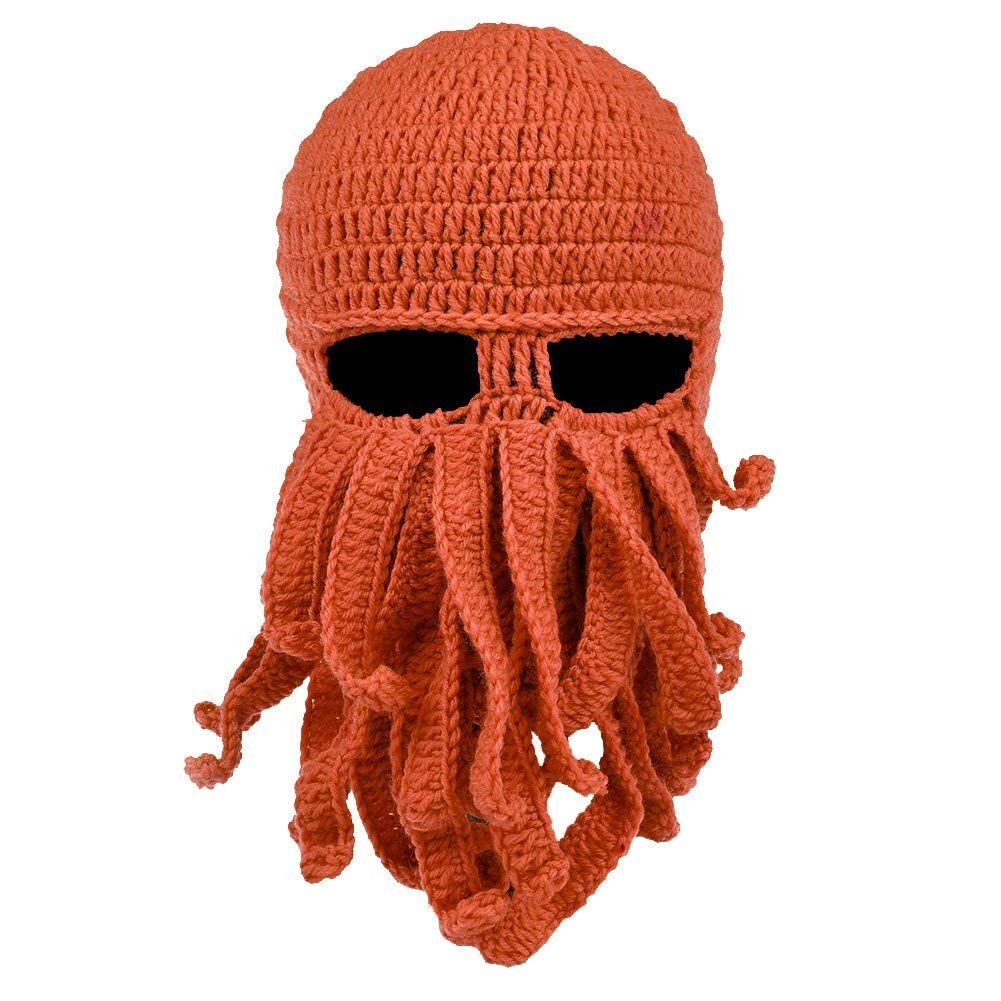 bac48d315cf VBIGER Beard Hat Beanie Hat Knit Hat Winter Warm Octopus Hat Windproof Funny  For Men