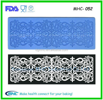 Non Stick Silicone Lace Mat Flower Decorative Pattern