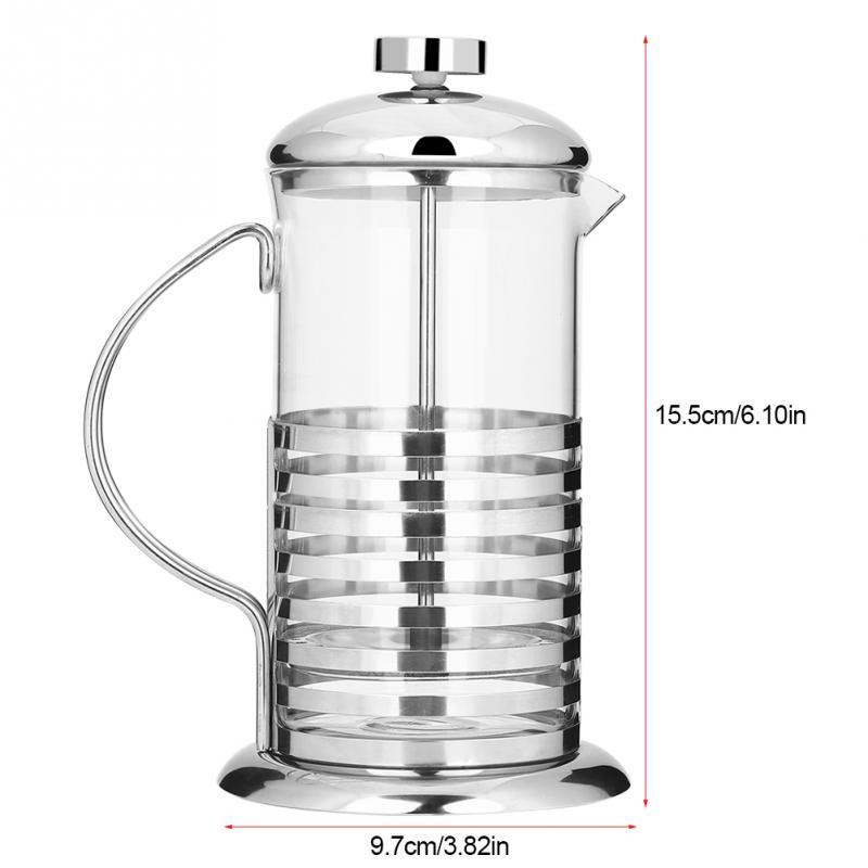Портативный 600 мл/800 мл нержавеющая сталь стекло французский пресс кофейная чашка горшок плунжерный чайник(Китай)