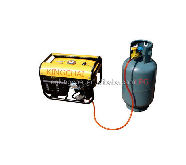 KINGCHAI Factory 4kw 5kw 6kw LPG Biogas Gas generator, Generator price, three in one gas gasoline lpg