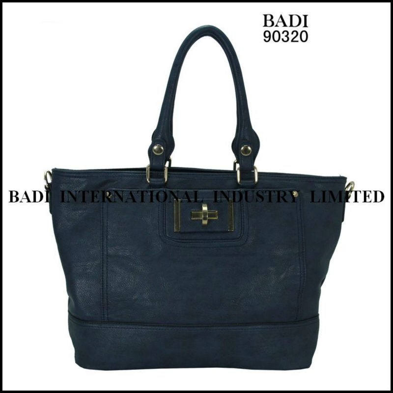2013 tote pu deep color fashion bags factory handbag sell