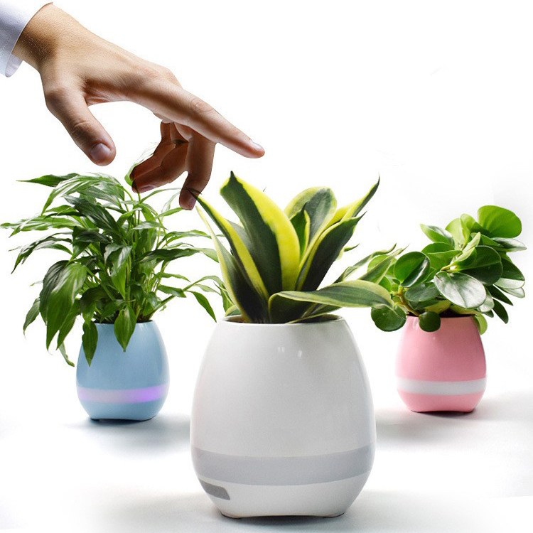 Touch Plant Piano Playing LED Night Light Creative Wireless Bluetooth Speaker Smart Music Flowerpot