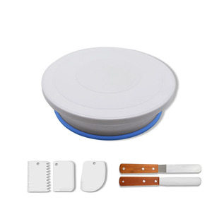 Supplies Cake Decorating Set Cake Tray turntable Pastry Cake Tools with Stand Suitable for Kids Birthday Party 6pcs