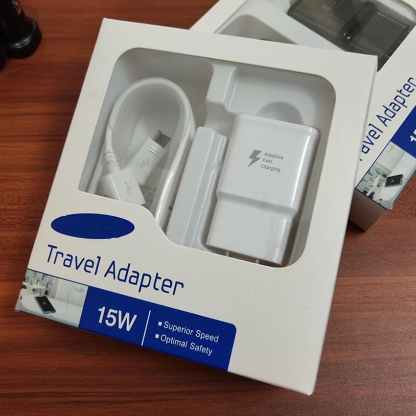100% Original 15w 2 In1 Conjunto Es Macho Rápido De Carga Adaptador De Viaje De Pared Cargador Rápido + 1,5 M Micro Cable Usb Para Samsung S6 S7 Buy