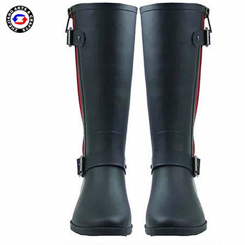 High quality black fashion rubber boot horse riding shoes