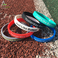 Wholesale Silicone Wristband Mixed Colors Adult's Blank Solid Rubber Bracelets with custom logo
