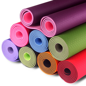 Eco-friendly Fitness Exercise Non-slip Yoga Mat Anti Fatigue TPE Yoga Mat Full Printed Double Use Yoga Mat