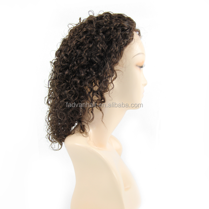 Best quality full lace human hair wig handmade natural black peruvian wig for body wave 24""