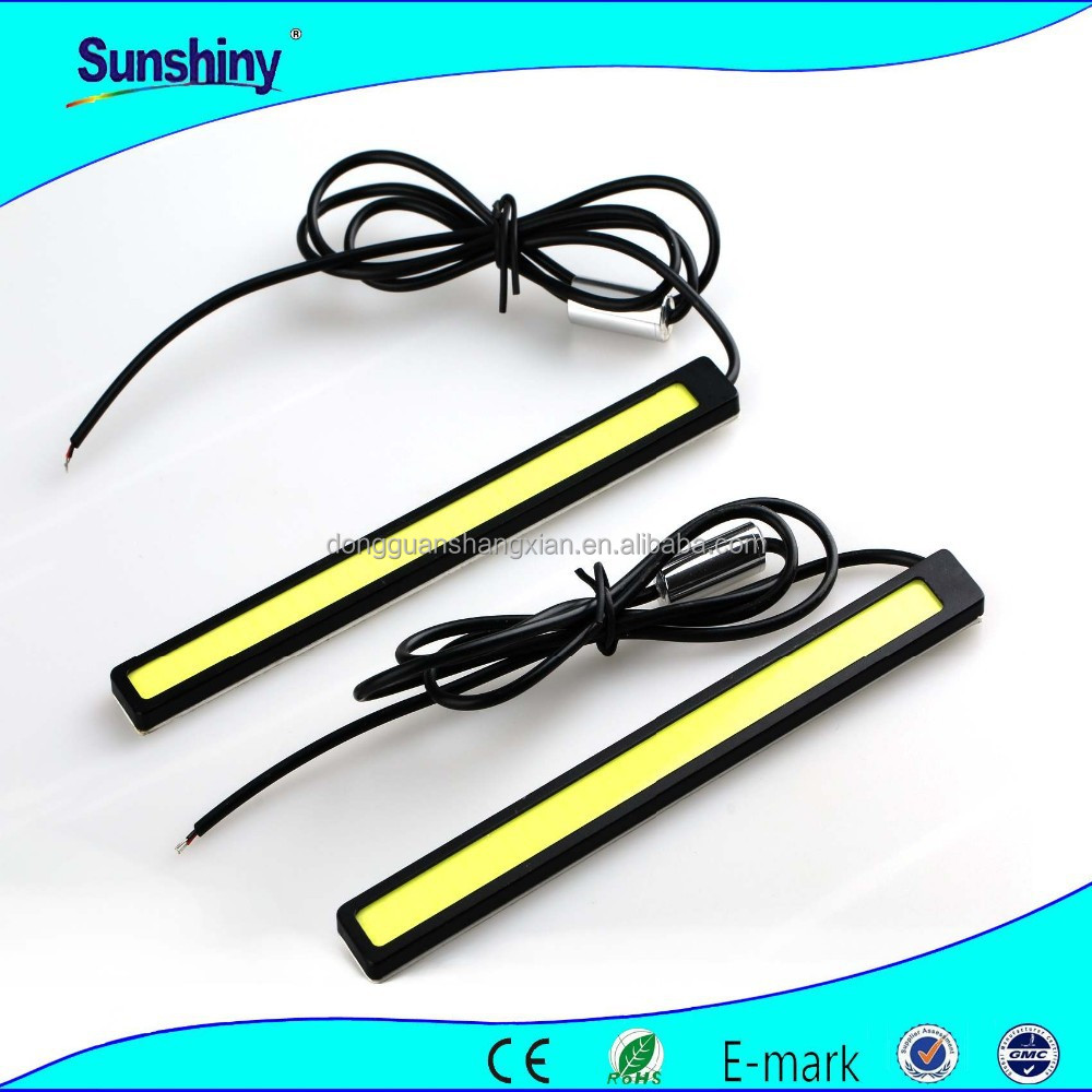 Fashion peoduct led drl 6W cob 36chips day running light 17cm led strips light lamp
