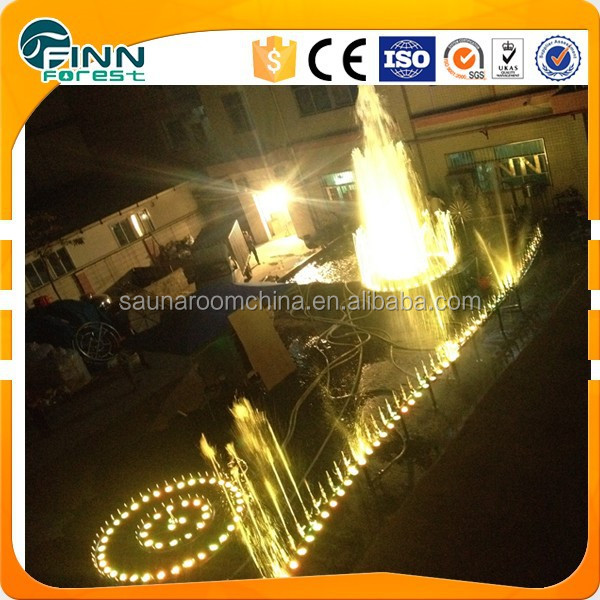 outdoor 10m diameter LED program music dancing water fountain