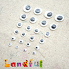 Black and White Flat Back Toy Movable Eyes Handicraft Round Googly Eyes