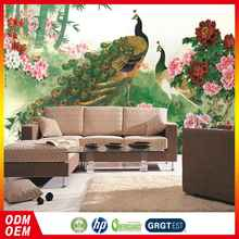 Best Selling Newest Style Custom Made chinese peacock design Living Room Wall Mural wallpaper Chinese