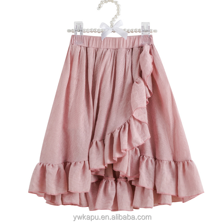 Fashion Party Plain Ruffled Pleated Knee-Length Baby Girl Fluffy Skirt
