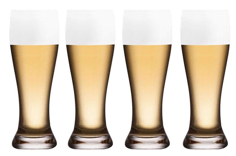 Kefbhefe Thick Beer Mug, Lead-Free Crystal Glass Beer Mug, Glass Juice Cup, Water Cup, 600ML, 4 Piece Set, 6 Piece Set,4Pieceset