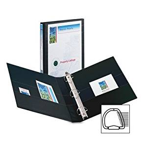 View Binder, Slant, D-Ring, 1 In, Black