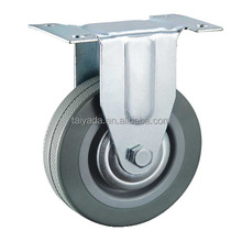 The Diameter Of 2 3 4 5 Inch Fixed Type Gray Rubber PVC Rigid Casters Wheel With Metal Cover For Refrigerator, Washing Machine