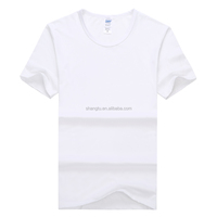 Wholesale White Modal T-shirt Man/Women Clothes Custom T-shirt Printing