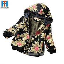 2015 Girls jacket cardigan kids coats jackets costume children hoodes coat autumn winter flower jacket for girls