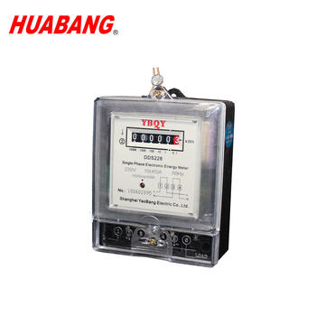 Low price factory wholesale 230V 10(40)A 50Hz Class 2 single phase electronic kWh meter