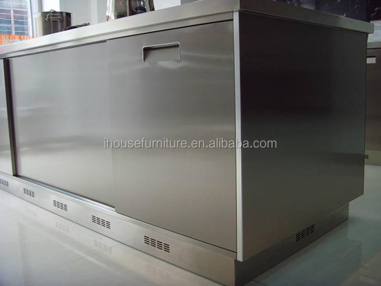 Modular Moderno Acero Inoxidable Cocina Isla/exterior Metal ...