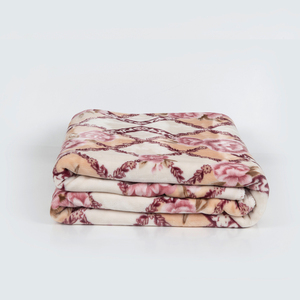 Factory direct 100% polyesterdyed flannel blanket bed sheet throw