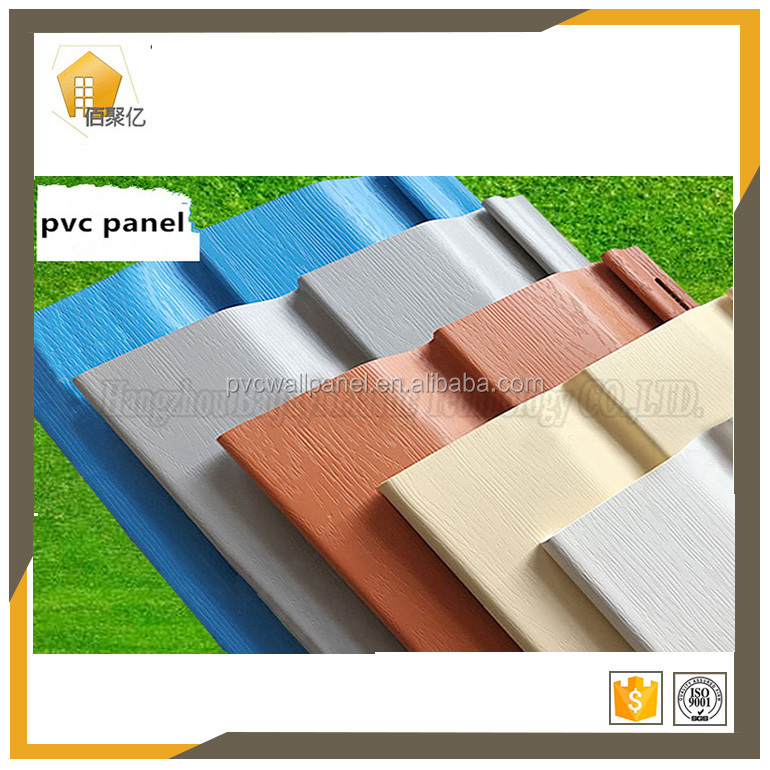 1.1mm thickness factory stylish pvc decorated profile making exterior decorative wall covering panels 3 d wall panel