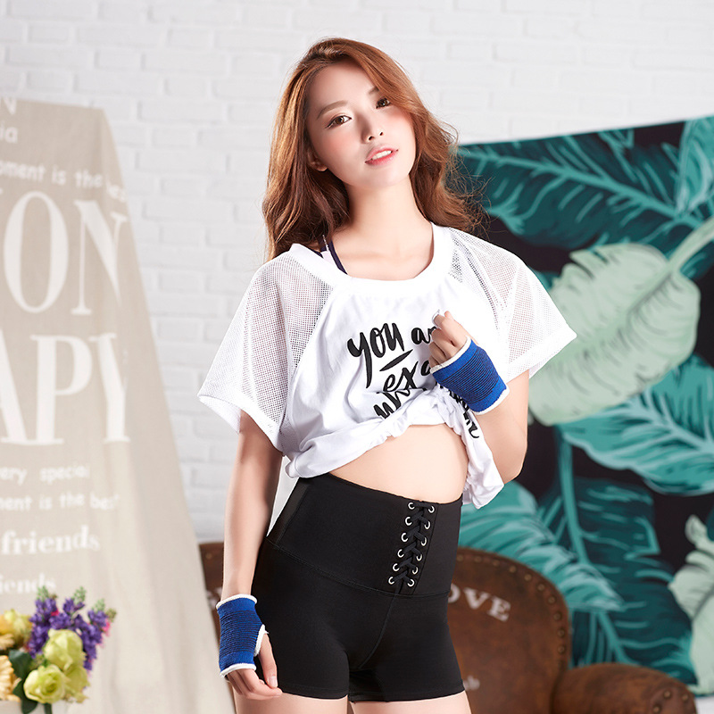 Mermaid Curve Black Bandage High Waist Women Workout Fitness Short Sexy Femme Running Yoga Shorts Quick Dry Gym Sport Shorts