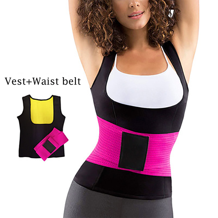 Alibaba.com / New Listing Waist Trainer Tummy Control Vest Private Label Two Pieces Women Waist Trimmer Belt