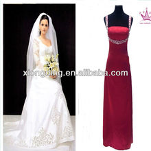 100%polyester Bride Dress satin fabric