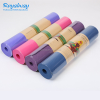 Wholesale eco friendly non slip material custom print private label tpe yoga mat