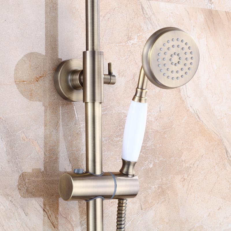 Antike Bronze Neu Bad Dusche Set Wasserhahn Einzigen Griff In Wand ...