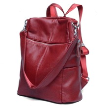 64eb3f5ce6 Multifunctional bag Women Backpack High Quality Genuine Leather Bucket Type  Shoulder Bag Big Travel Backpacks out bag backpack