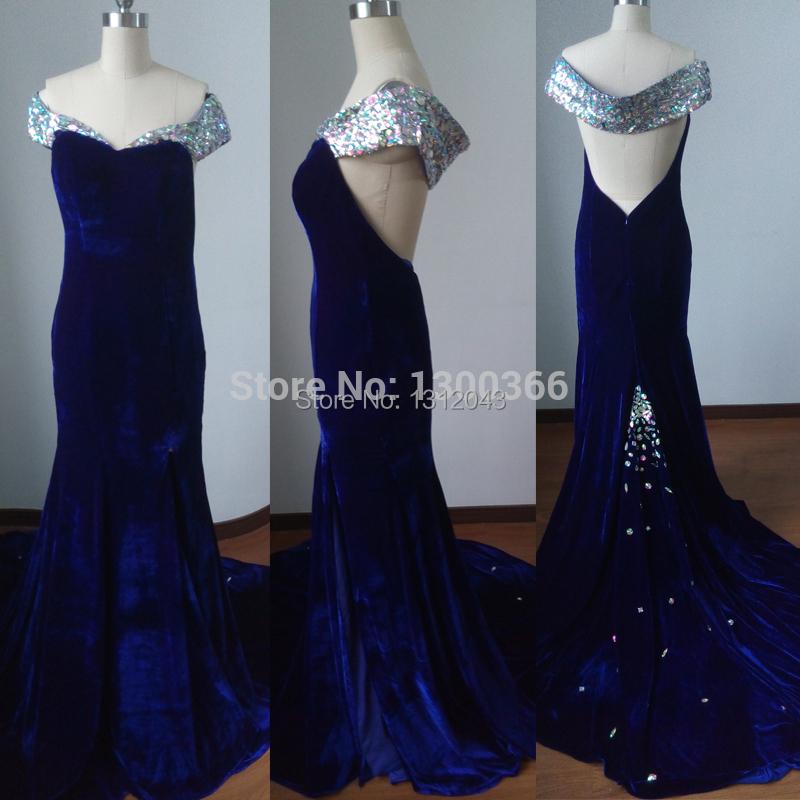 Blue open back prom dresses 2018