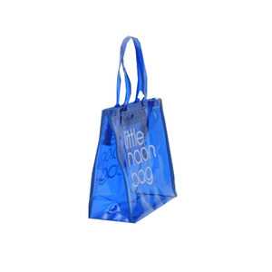 custom transparent PVC shopping bag promotional items ladies clear plastic beach tote bags women handbags 2018 reusable