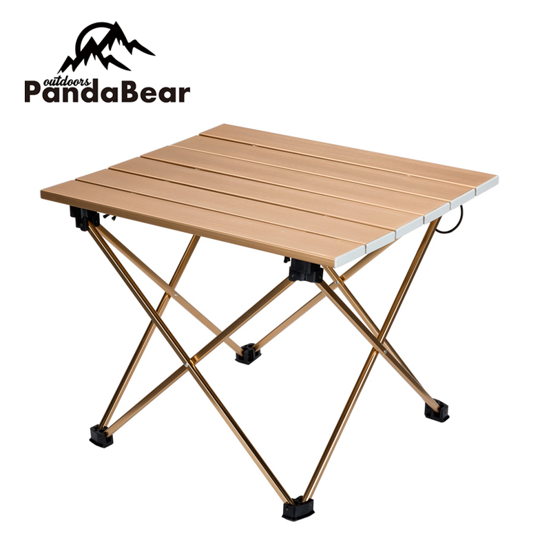Folding Aluminum Foldable Camping Table With Cup Holder Chair Set Product On
