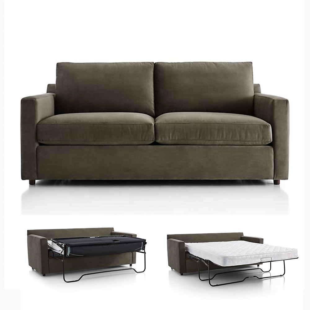 - Queen Size Double Sleeper Sofa Bed Folding Function With Mattress