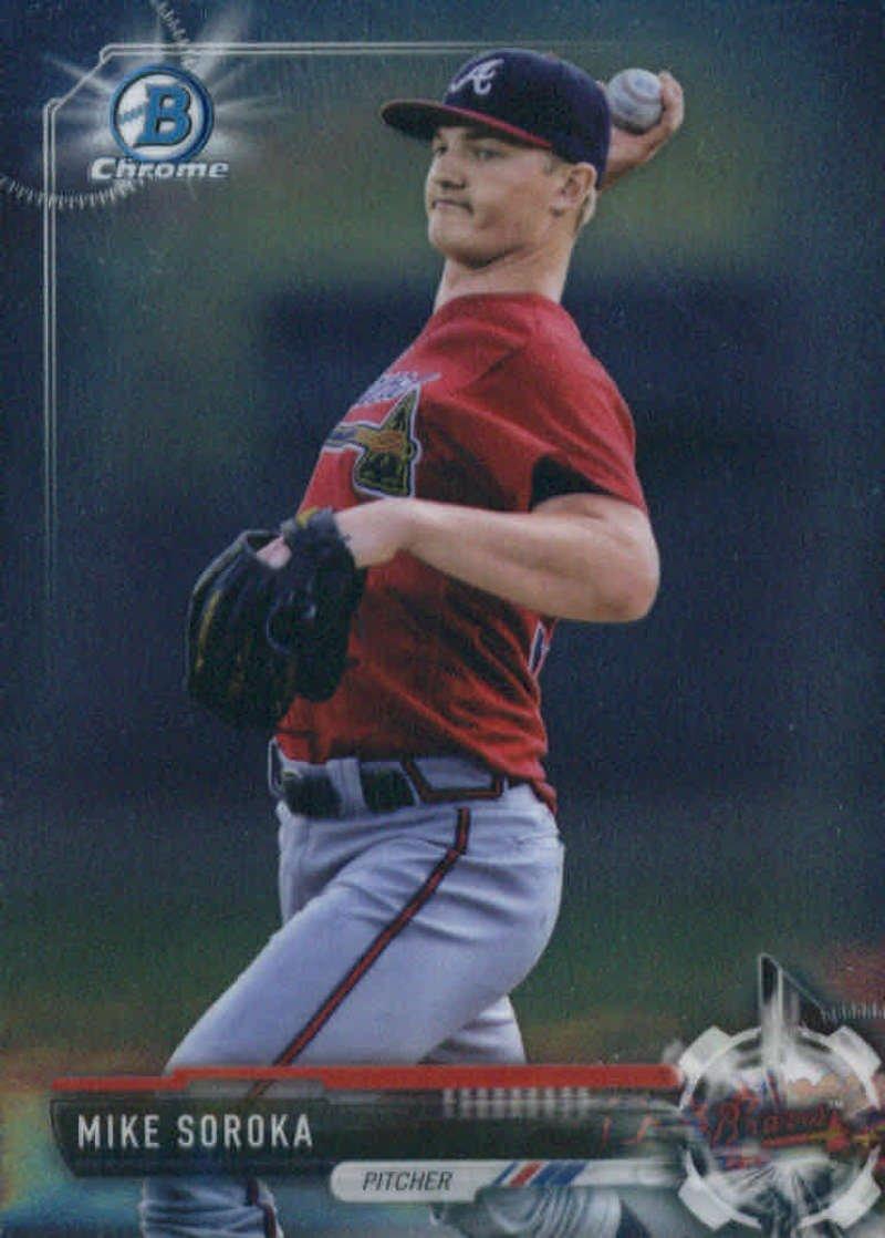 2017 Bowman Chrome Prospects #BCP5 Mike Soroka Atlanta Braves Baseball Card