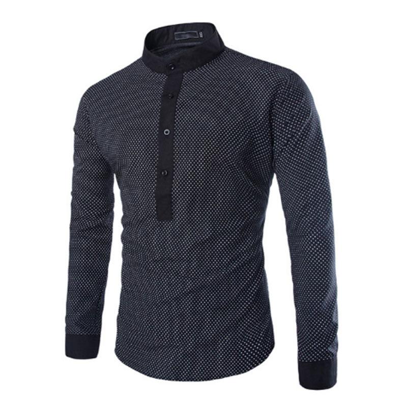 fd018a3120b7 Get Quotations · 2015 New Arrival Camisa Masculina Mens Dress Shirts  Fashion Brand New Men Cotton Slim Fit Polka