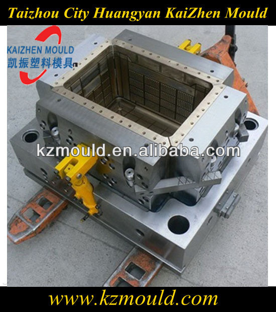 Plastic injection crate mould with LKM standard mould base