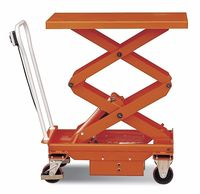 Mobile Manual Hydraulic Scissor Lift Table platform Trolley/hydraulic hand lift trolley