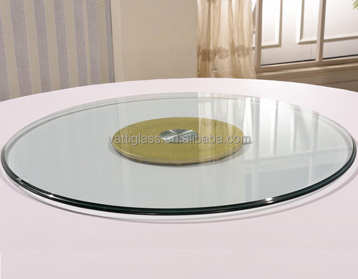 Hot selling rotating tempered glass top lazy susan for round table