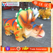 Children Playground Coin Operaed Customized Animated Robotic dino riders for sale