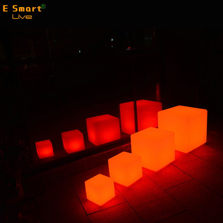 mini cube led light, waterproof led cube seat chair lighting for garden